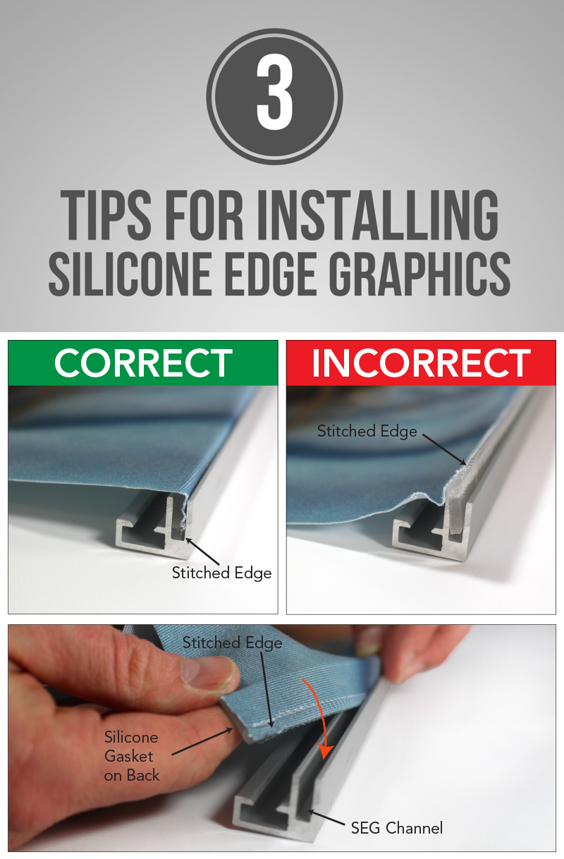 3 Tips for Installing Silicone Edge Graphics